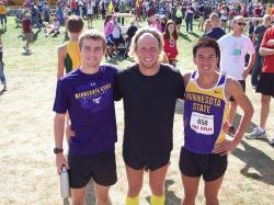 Matt Stocker, Devin Allbaugh and Josh Mellman Minnesota State Men