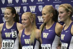 Washington DMR Conf Champions : Christine Babcock, Baylee Mires, Kayla Stueckle and Katie Flood