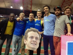 Erik Sowinski poses with friends at The Melrose Games©Flotrack.org